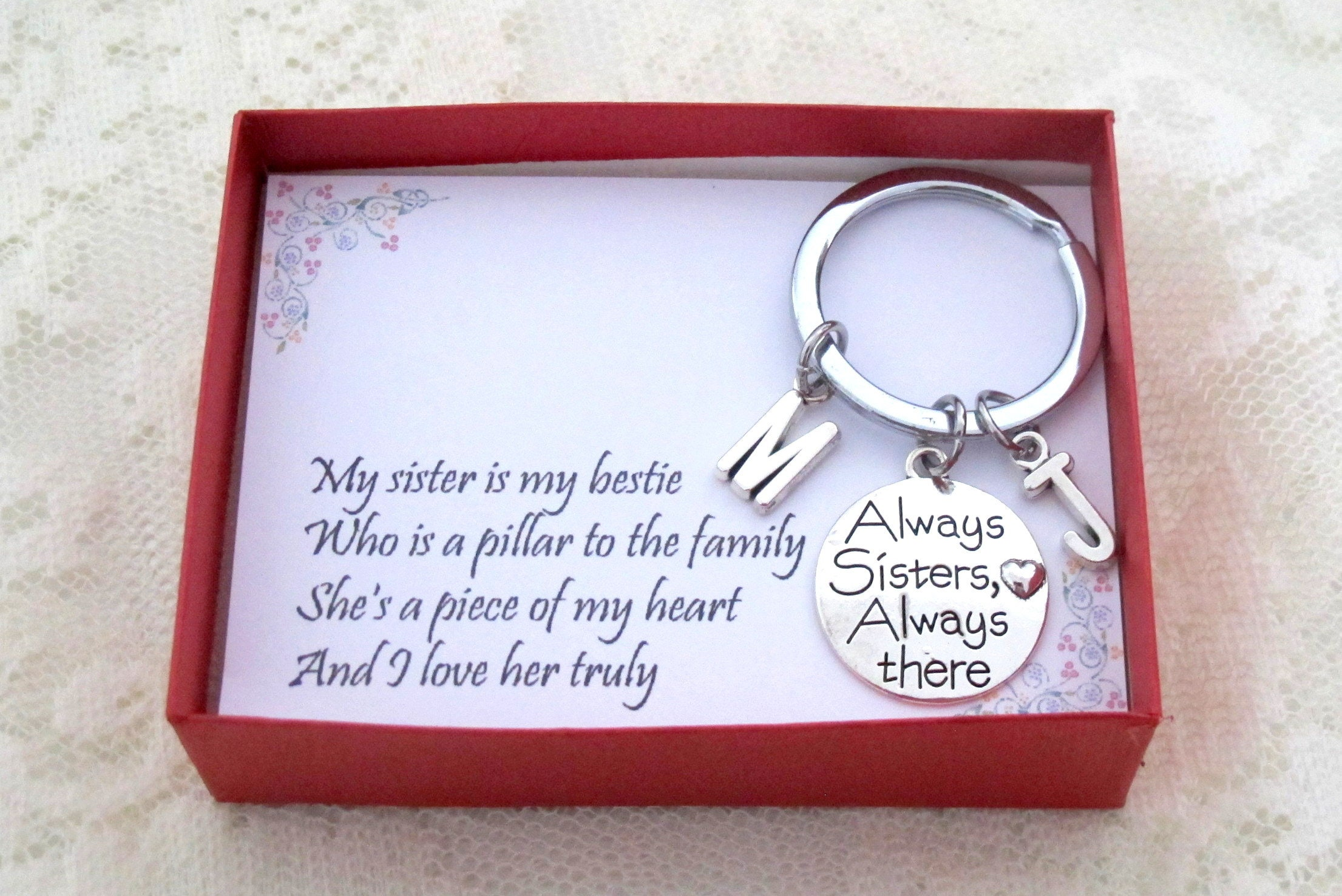 Big Sister with Date Big Sister Keychain Sister Birthday Sister Charm Big Sister 2021 YOU CHOOSE YEAR New Sister Big Sister Gift