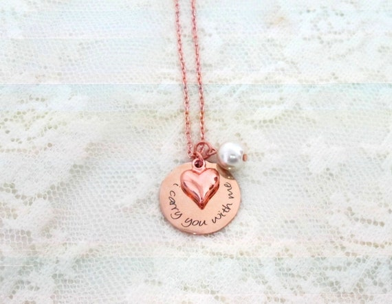 Miscarriage Remembrance - Personalized Jewelry - Miscarriage Necklace - Infant Loss Jewelry, I Carry You With Me Necklace • Memory Necklace
