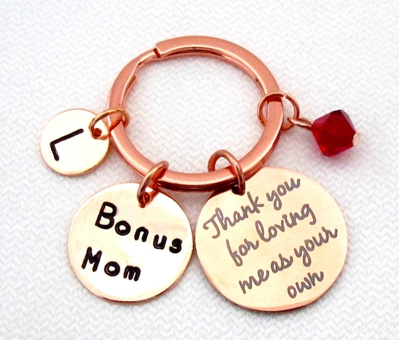 Step daughter gifts from Bride step daughter keychain,Rose gold,Bonus mom gift,Step Dad gift,Gift from Step daughter,Free Shipping USA