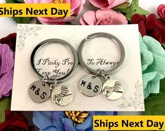 Pinky Swear 2 Keychains,Double Pinky Promise Key Chains,Best friend gift,Two Secret Friends Swear gift, Pinky promise keychain,Pinky Promise