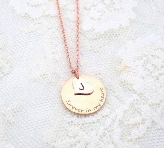 Sympathy Gift Forever In My Heart Necklace Loss of a Loved one RIP Never Forgotten In loving memory Memorial Necklace, Never Forgotten,
