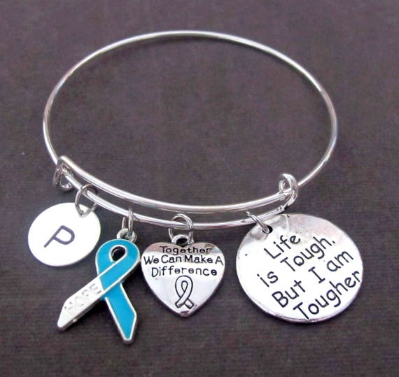 Together We Can Make a Difference,Light Blue Ribbon Awareness Bracelet, Addisons Disease, Prostate Cancer,Chronic Illness, Free Shipping USA