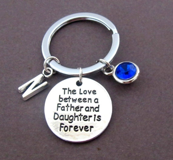 Father's Day gift,Gift for Daddy from Daughter,Love Between a Father and Daughter is Forever, Gift for dad,Daddy Keychain, Free Shipping USA