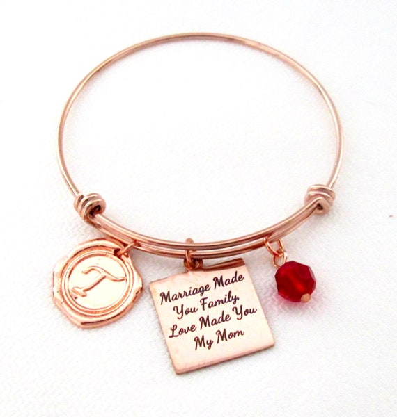 Marriage Made You Family,Love Made You My Mom,Gift for Mother in Law,Step Mom Wedding gift,Mothers Day gift,Christmas Gift,Free Shipping USA