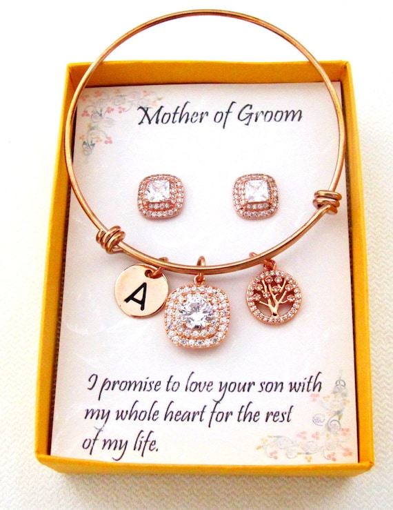 Mother in Law bracelet, Rose Gold Personalized Jewelry, Mother of the bride gift, Mother of the Groom gift, Mother in law wedding gift