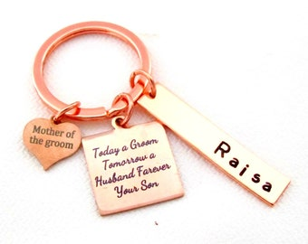 Today a groom,tomorrow a husband,Forever your Son,Personalized  Wedding gift for Mom,Gift from groom,Mother of groom gift, Free Shipping USA