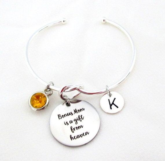 Gift for Bonus Mom, Bonus Mom is a gift from Heaven, Best Bonus mom Jewelry, Godmother gift,Foster Mom gift,Step Mom gift, Free Shipping USA