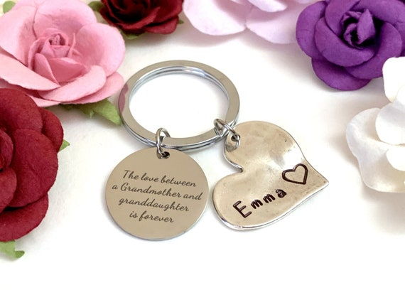 The love between a grandmother and granddaughter is forever, Grandmother Gift,Grandma Jewelry,Personalized Grandma Jewelry,Free Shipping USA