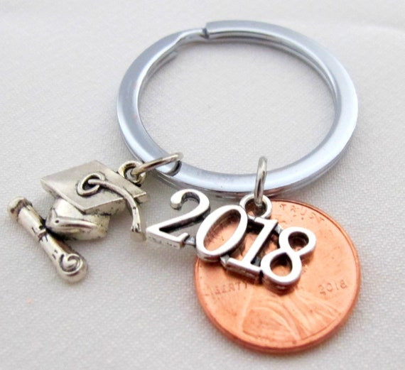 Graduation Penny Keychain, Class of 2020 ,Graduate Keychain, Gift for Him,Gift for Her personalized penny, graduate gift,graduation keepsake