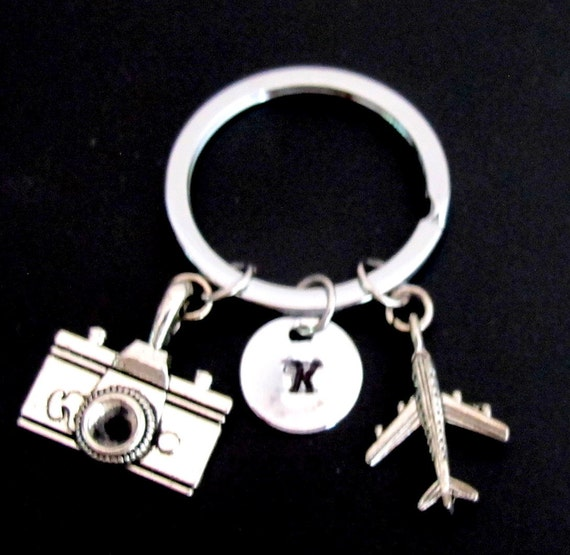 Airplain Key chain, airplane key ring,cmera Key chain, airplane keyring , best friend jewelry, airplane jewelry Free Shipping USA