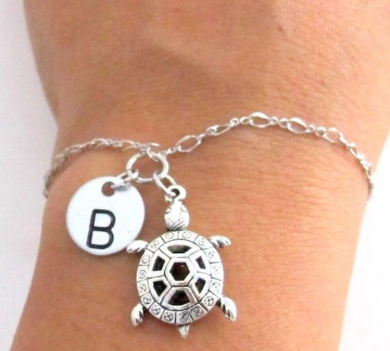 Turtle Bracelet Sea Turtle Jewelry, Turtle Charm Bracelet, Animal Bracelet, Turtle Charm Jewelry,Christmas Gift Free Shipping In USA