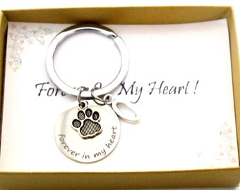 Pet Memorial Keychain, Memory of Pet, Silver, Pet Remembrance, Dog Memorial, Personalized Pet, Loss of Pet, Dog Loss Gift, Pet Tag Gift