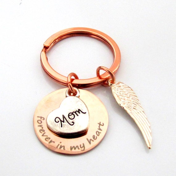 Memorial Keychain,Sympathy gift,In remembrance of Mom,Dad Memorial Keychain,Forever In My Heart Keychain,,Grief Mourning,Memorial jewelry