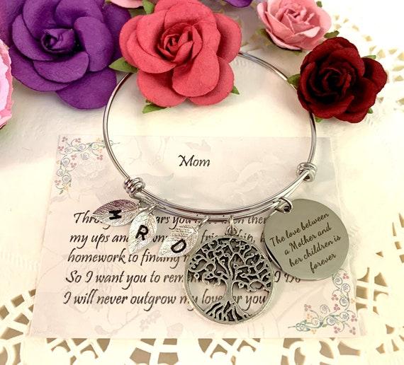 Familyn tree Mother Bracelet, Mother and Her Children Bracelet, Tree of Life Bracelet, gift for Mom, Mother's Day gift, Grandmother gift