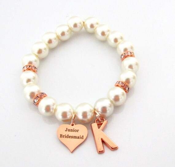 Junior Bridesmaid Rose Gold Bracelet,Junior Bridesmaid Gift,Will you be my Junior Bridesmaid, Bridesmaid, Wedding Jewelry, Free Shipping USA