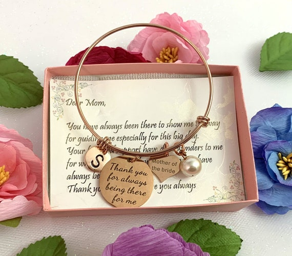Gift for mom ,Mother of The Bride Gift From Daughter,Christmas ,mom bracelet,Mother in law, Aunt gift ,Step mom,Mothers gift, Mother in law,