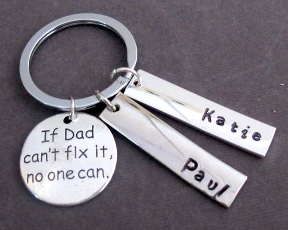 If Dad Can't Fix it No One Can Keychain,Father Keychain ,Father's day Gift, Daddy Keyring,Gift for Dad,Gift from Children, Free Shipping USA