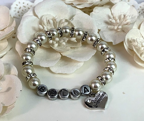 Junior Bridesmaid Bracelet,Junior Bridesmaid gift,Junior Bridesmaid Custom Name Bracelet,Will you be my junior bridesmaid, Free Shipping USA