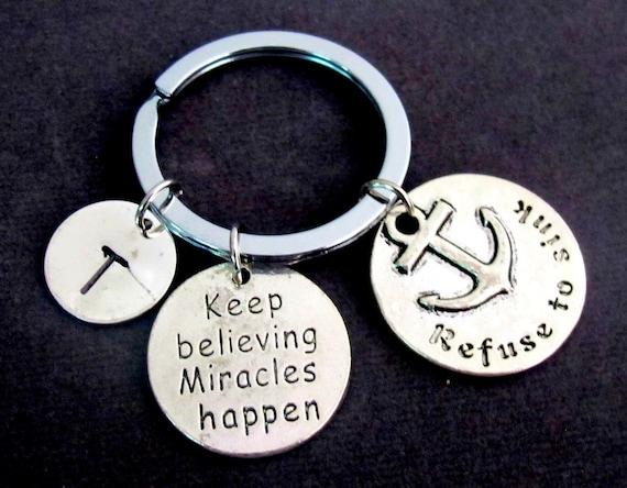 Keep Believing Miracles Happen,Affirmation Keyring,Miracle Keychain,Have Faith Miracles Happen,Expect Miracles, Miracle,  FREE SHIPPING USA