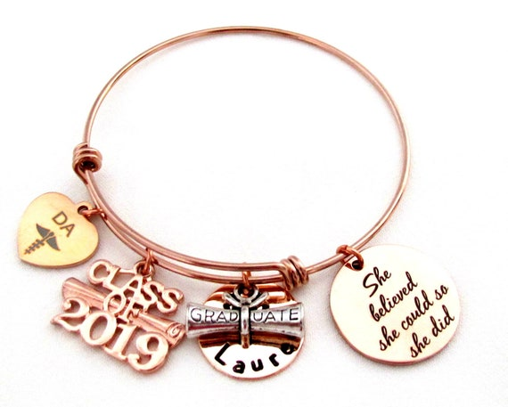 2020 Dentist Assistant git DA Bracelet, Denta  graduation gift,Personalized graduation gift for dental assistant, 2020 Senior gift 2019 gift