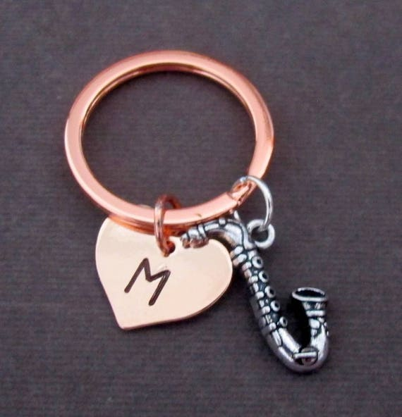 Saxophone Keychain,Saxophone Keyring,Musical Instrument Key Chain,Personalized Musician Gift, Music Jewelry,Music Gift, Free Shipping In USA
