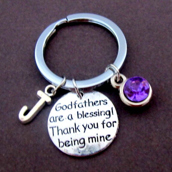 Godfather gift, Godparent gift, Godfathers are a blessing Thank you for being mine Keychain,Godfather,Baptism,Christening, Free Shipping USA