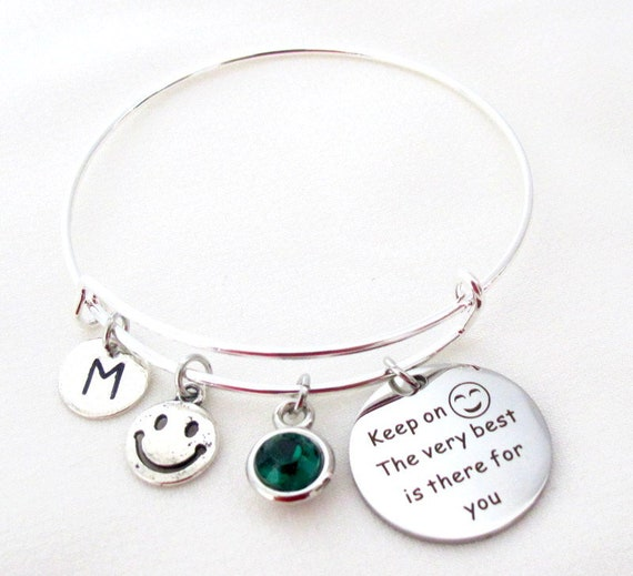 Smiley Face Bracelet,Tiny Silver Smiley Bangle,Smile Face Jewelry,Happy face,Holiday gift,Bridesmaid gift,Christmas gift, Free Shipping USA