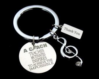 Coach Appreciation Gift,Music Coach gift,Sports coach keychain,Soccer coach gift,Football coach, Baseball coach keychain,Free Shipping USA