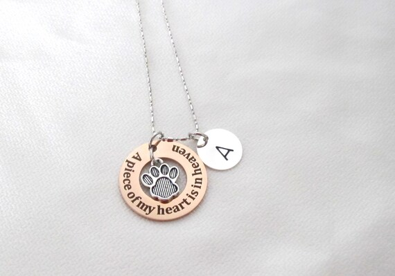 Memorial Loss-Pet Lover-Animal.Pet loss jewelry, Gift-Paw Print Necklace Memorial Jewelry Cat or Dog Paw Print • Pet Loss, Remember Your Pet
