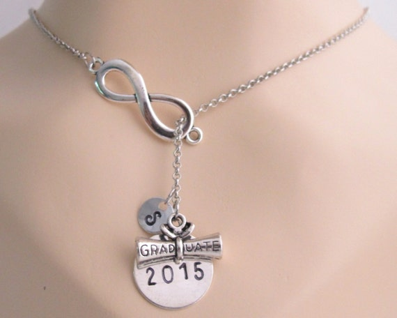 Graduation 2020 Necklace Diploma Necklace, Graduation gift, 2020 Class Graduate Graduation jewelry, Initial necklace High School Senior Gift