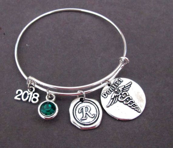 Dentist Bracelet,Caduceus,Dental Graduation Gift,Dental Assistant Gift,Orthodontist,Personalized Dental Hygienist Gift, Free Shipping In USA