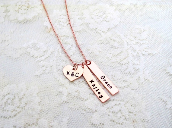 Personalized Kids Names Necklace, Necklace with Kids Names and Parents Initials, Mom Necklace,Nana Necklace, Grandma Necklace,Family Jewelry