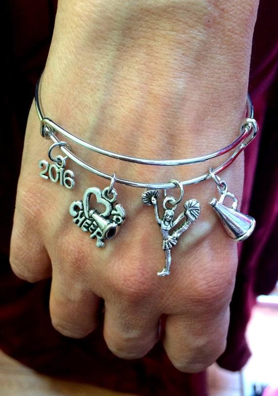 Cheerleader Bangle,Cheerleader Bracelet 2017 2017 Cheer Bracelet Megaphone bracelet,Love to cheer bracelet,Cheer Bangle,Free shipping in USA