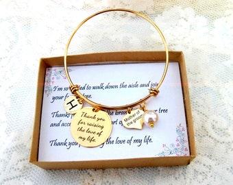 Mother of the Groom Bracelet, Mother in Law Gift, Wedding Gift,Rehearsal Dinner Presents ,Mother of the Bride Bracelt, Grandmother groom