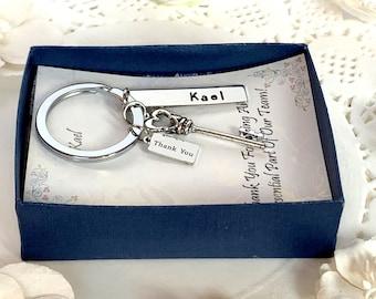 Employee Appreciation Gift Keychain, Key Charm Keychain, Employee Gift, Coworker Gift, Work Team Gift,Thank you gift,Staff appreciation gift