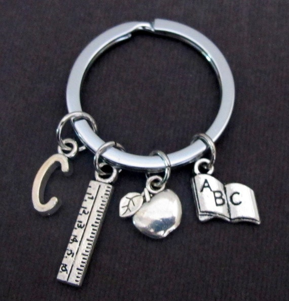 Personalized Teacher Key Chain, Teacher gift,Thank You,Teacher Appreciation,Teacher Christmas gift, Apple,gift for Teacher,Free Shipping USA
