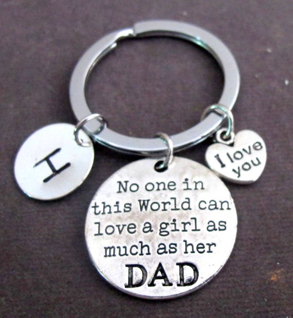 I Love you Dad Keychain,Father's Day gift, Gift for father, gift for daughter, Daddy's girl Keyring, father daughter gift, Free Shipping USA