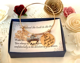Personalized Graduation Jewelry, Graduation Gift for Girl, Class of 2021 for Graduate, Senior Graduating Charm, Gift for Her, Custom Jewelry