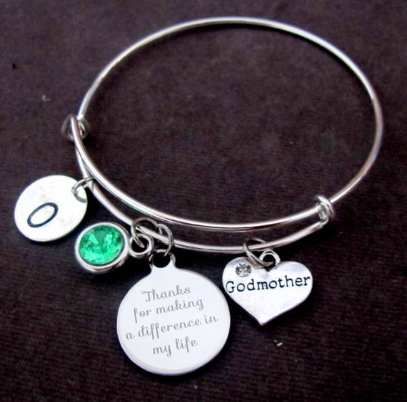 Godmother Bracelet, Godmother Gift, Thank you for making a difference in my Life,Godmother Jewelry, Gift for Godmother, Free Shipping In USA
