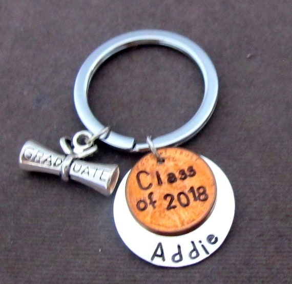 Class of 2018 Keychain,Personalized Class of 2018 Key Chain,Graduation Gift,Graduation Keychain,Gif for Her,Gift for Him, Free Shipping USA