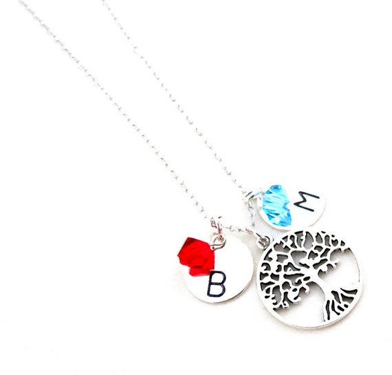 Personalized Family Tree Necklace,Gift For Grandma,Gift for Nana, Birthstone Necklace Personalized Mothers Gift,Wife Gift,Free Shipping USA