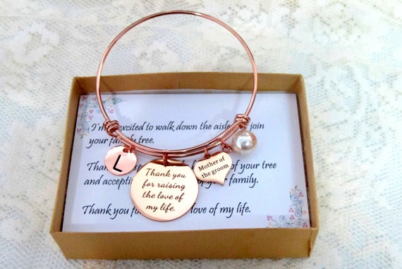 Mother of Groom Wedding gift,Mother In Law Bangle Jewelry,Gift from Bride, Mother of the bride gift, ,Wedding Gift,Rehearsal Dinner Presents