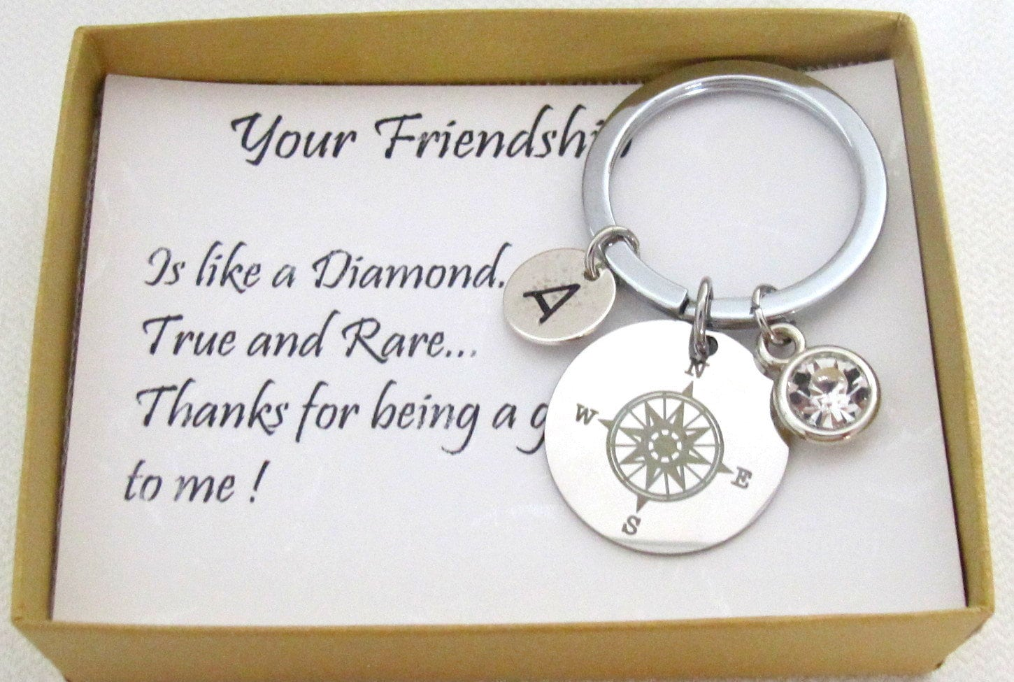 Christmas Gifts For Sister In Law.Christmas Gifts Compass Keychain Sorority Sister Gift For Sister