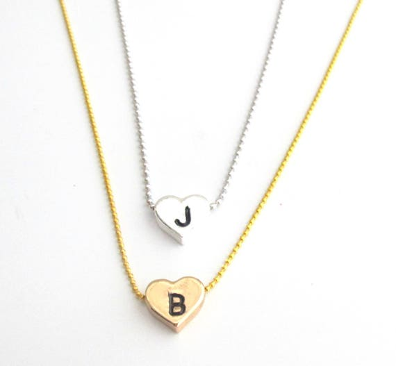 Heart Necklace,Initial Necklace Small Heart Necklace,Delicate gold heart Necklace,Valentine Girlfriend Wife Gift Jewelry, Free Shipping USA