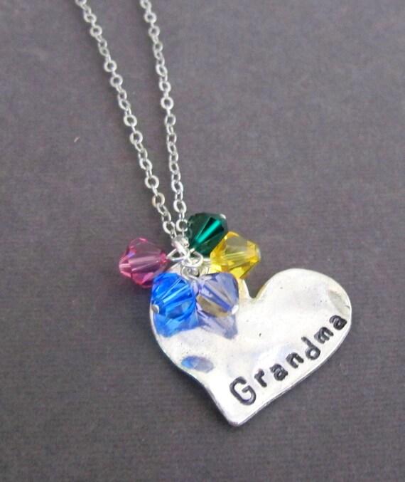 Personalized Grandma Necklace, Grandma Jewelry, Gift for Granny, Nana Necklace, Gift for Mom, Grandmother Gift Jewelry, Free Shipping In USA