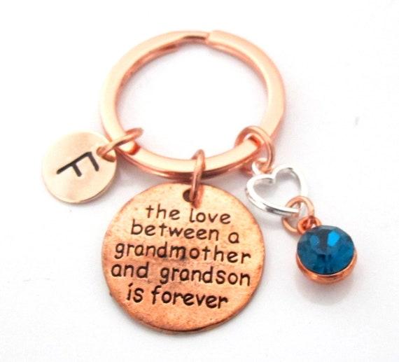 Grandmother Grandson gift Keychain,Gift for Grandson,Gift for Grandmother,Grandma gift,Gift for Grammy,Grandma Grandson gift,Nanny Grandson
