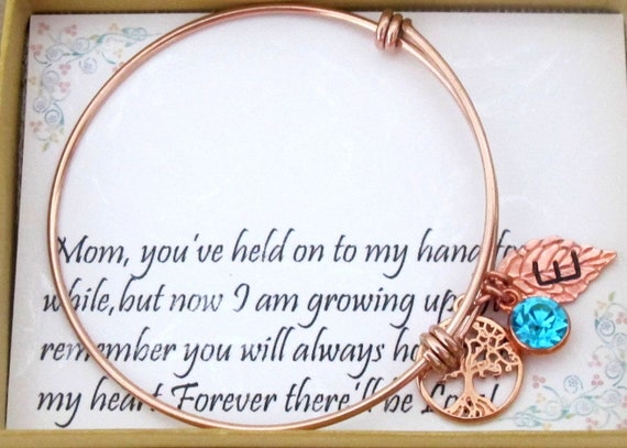 Personalized Mom Bracelet,Family Tree Bracelet,gift from Daughter,Wedding gift for Mom,Mother's Day Gift,Christmas gift,Free Shipping In USA