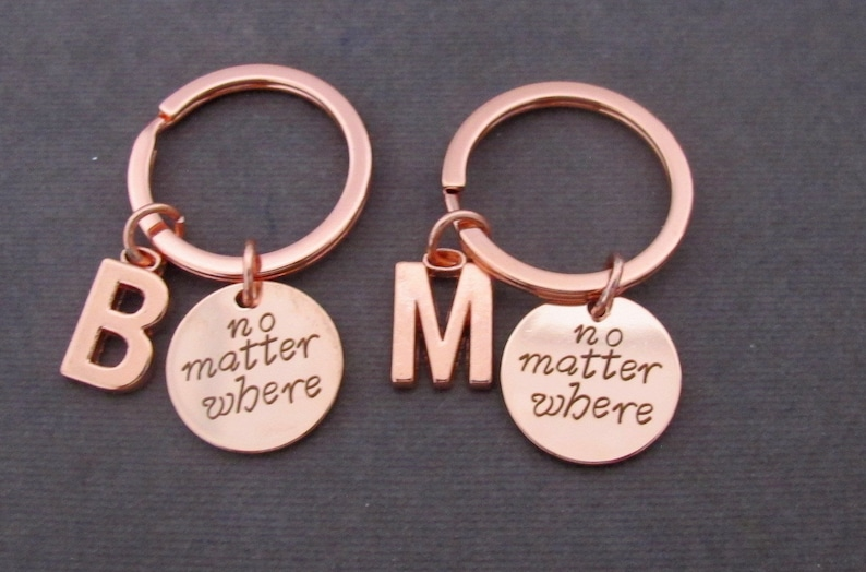Moving away GiftBest Friend KeychainNo matter where image 0