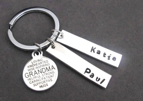 Grandma Keychain,Grandma Quote Key Chain,Grandma Gift,Gift from Grandchildren,Custom Grandmother Keychain,Grandma jewelry, Free Shipping USA