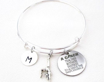 Coach Bracelet,Gift for Sports Coach,Personalized Coach gift,Gift for Coach,Gymnast bracelet,Thank you Gift,Coach's Gift,Free Shipping USA